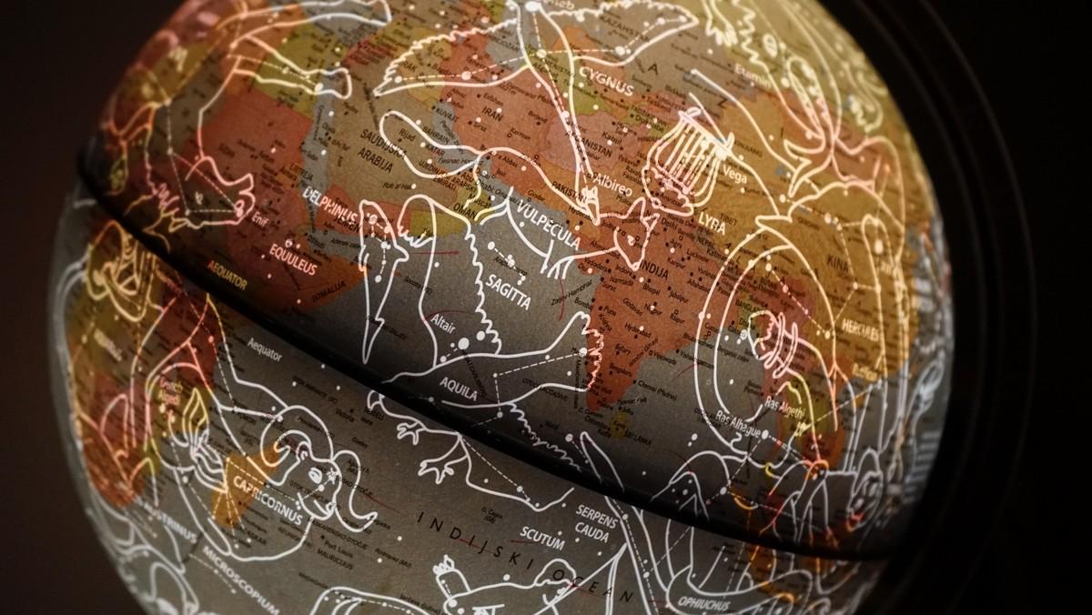 Mapa ukazující zvěrokruh, ze kterého se dá hodně vyčíst.